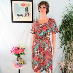 NWT Honey & Lace Patchwork Print Popover  Dress